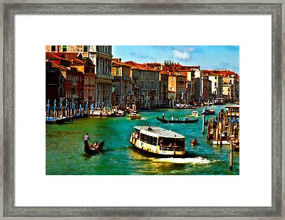Grand Canal Daytime Framed Print