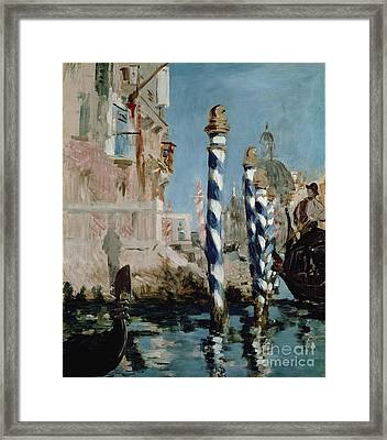 Grand Canal Framed Print by Edouard Manet