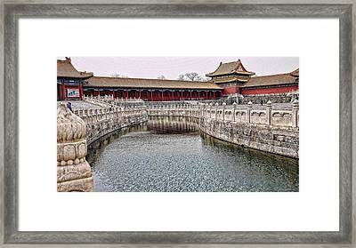 Grand Canal Forbidden City Framed Print by Barb Hauxwell