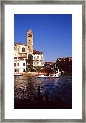 Grand Canal From Riva De Biasio Framed Print by Paul Cowan