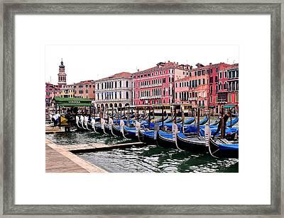 Grand Canal Gondolas Framed Print