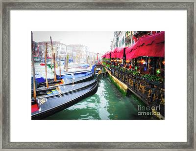 Framed Print featuring the photograph Grand Canal In Venice # 2 by Mel Steinhauer