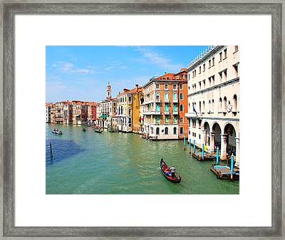 Grand Canal In Venice. Framed Print