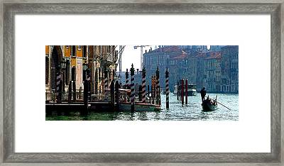 Grand Canal Of Venice Framed Print by Mindy Newman