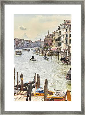 Grand Canal - The Most Famous Canal In Venice Framed Print