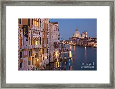 Framed Print featuring the photograph Grand Canal Twilight by Brian Jannsen
