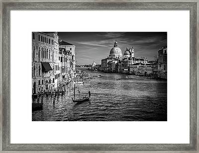 Grand Canal View Framed Print by Andrew Soundarajan