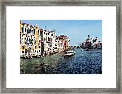 Grand Canal View At The Academy Bridge Framed Print by George Oze