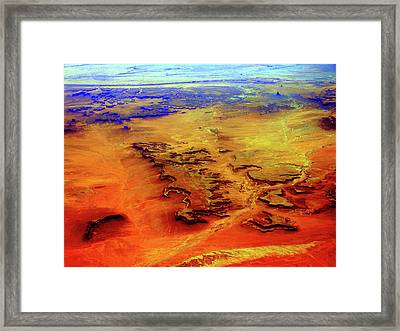 Framed Print featuring the photograph Grand Canyon 02 From 6mi Up by Irma BACKELANT GALLERIES