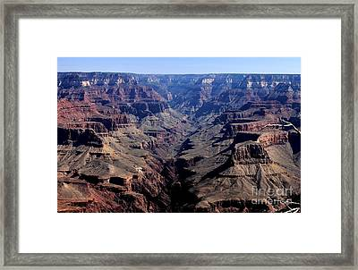 Framed Print featuring the photograph Grand Canyon 2 by Erica Hanel