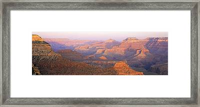 Grand Canyon, Arizona At Sunset Framed Print by Panoramic Images