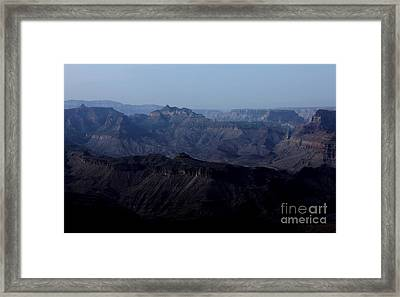 Framed Print featuring the photograph Grand Canyon At Dusk by Erica Hanel
