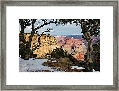 Grand Canyon At Sunrise Framed Print by Mary Lee Dereske