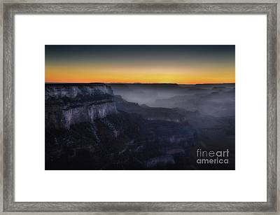 Grand Canyon At Twilight Framed Print by RicardMN Photography
