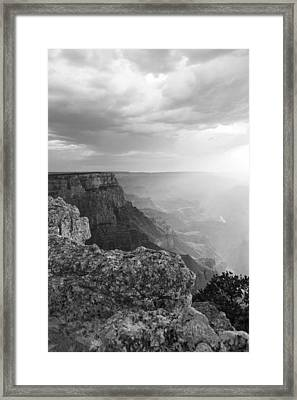 Grand Canyon Black And White Framed Print by John McGraw