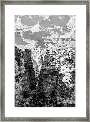 Grand Canyon Bw Impression Framed Print by Juergen Klust
