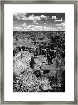 Grand Canyon Bw Framed Print by RicardMN Photography