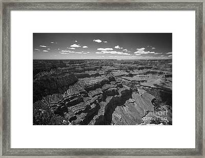 Framed Print featuring the photograph Grand Canyon Bw1 by Stan and Anne Foster