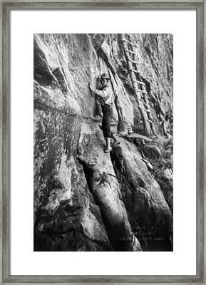 Grand Canyon: Climber Framed Print by Granger