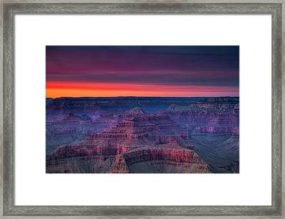 Grand Canyon Evening Colors Framed Print