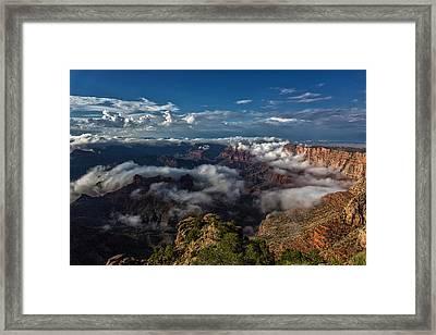 Grand Canyon Fog Framed Print