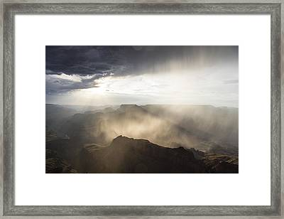 Grand Canyon Glow Framed Print by John McGraw