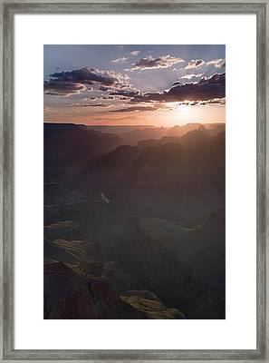 Grand Canyon Glow Framed Print