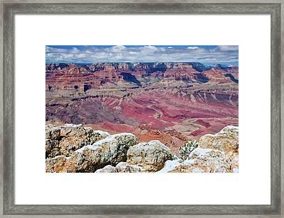 Grand Canyon In Arizona Framed Print by Julia Hiebaum