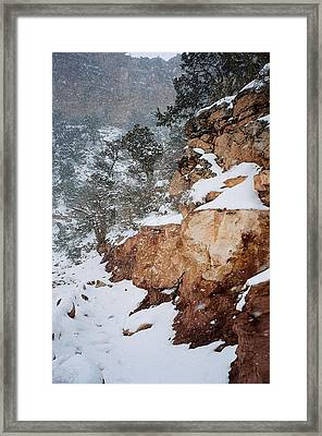 Grand Canyon In Snow Framed Print by Ruth Sharton