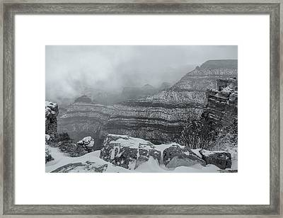 Grand Canyon In The Fog Framed Print