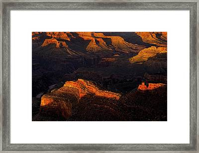 Grand Canyon Light And Shadows Framed Print by Andrew Soundarajan