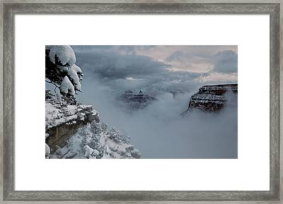 Framed Print featuring the photograph Grand Canyon by Lucian Capellaro