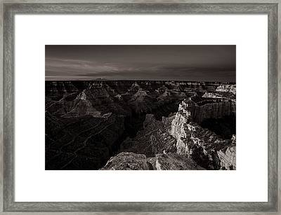 Grand Canyon Monochrome Framed Print by Scott McGuire
