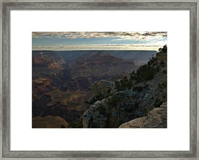 Framed Print featuring the photograph Grand Canyon Monring by Stephen  Vecchiotti