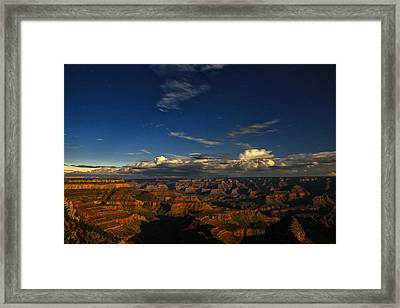Grand Canyon Moonlight Framed Print