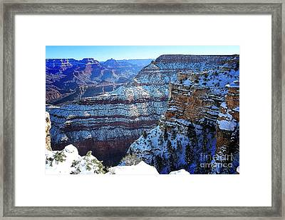 Grand Canyon National Park In Winter Framed Print
