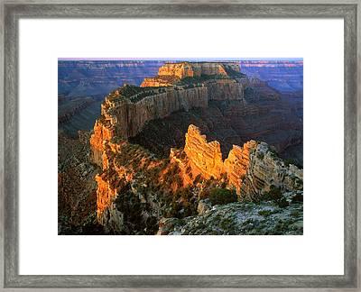 Grand Canyon North Rim Framed Print by Johan Elzenga