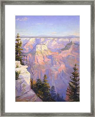 Grand Canyon North Rim Framed Print by Lewis A Ramsey