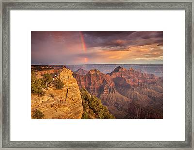 Grand Canyon North Rim Rainbow Framed Print