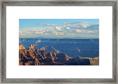 Grand Canyon North Rim Sunset San Francisco Peaks Framed Print