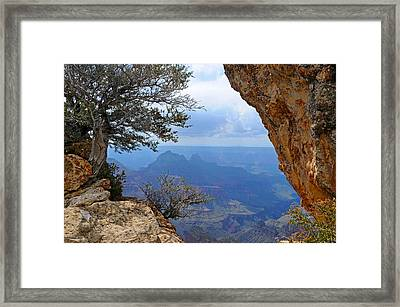 Grand Canyon North Rim Window In The Rock Framed Print