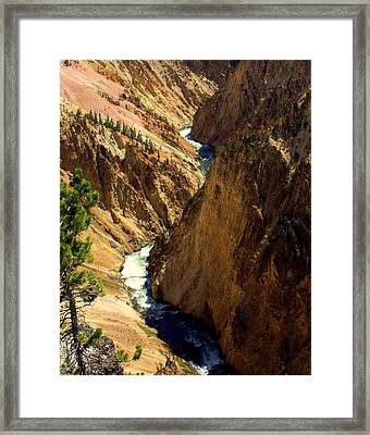 Grand Canyon Of The Yellowstone 2 Framed Print by Marty Koch