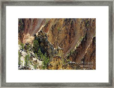 Grand Canyon Of The Yellowstone From North Rim Drive Framed Print by Louise Heusinkveld