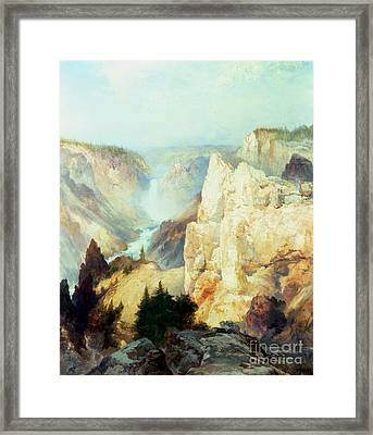 Grand Canyon Of The Yellowstone Park Framed Print by Thomas Moran