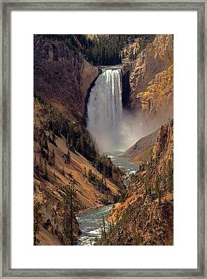 Grand Canyon Of The Yellowstone Framed Print by Robert Pilkington