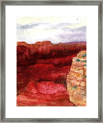 Framed Print featuring the painting Grand Canyon S Rim by Eric Samuelson