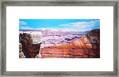 Grand Canyon Scene Framed Print by M Diane Bonaparte