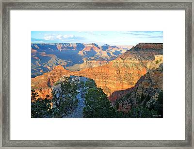 Grand Canyon South Rim At Sunset Framed Print