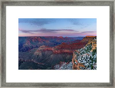 Grand Canyon - South Rim Twilight Framed Print