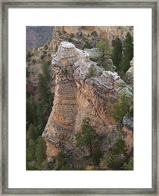 Framed Print featuring the photograph Grand Canyon Spire by Joshua House